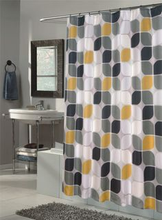 Red Black And Yellow Shower Curtain