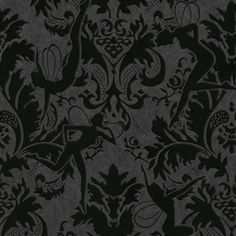 Forest Muses Black - Home Depot $132/roll