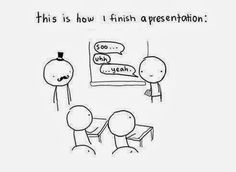 Are ok with public speaking? Like presentations in class?