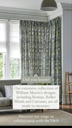 The V&a, Roman Blinds, Roller Blinds, William Morris, Window Coverings, Curtains, Living Room, Bedroom, Blinds Ideas
