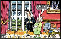 """In a TV documentary to be broadcast next Monday on the anniversary of the Queen's accession, David Cameron, the Prime Minister of the Queen's reign, says: """"She's seen and heard it all, but I think she wants to. Corgi Cartoon, Celebrity Caricatures, David Cameron, British Royals, Funny Comics, Stand Up, Royalty, Corgis, Welsh"""