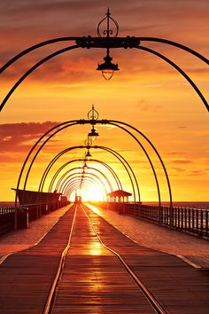 Pier by Paul Sutton, Southport, England. Southport Pier, Southport England, Ponte, Beautiful World, Beautiful Places, Most Beautiful, Amazing Places, Sunrises, England Uk