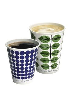 Stig Lindberg design on McDonald's coffee cups in Sweden. The prettiest take out cups I have ever seen.