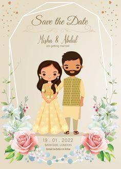 Indian Wedding Invitation Cards, Wedding Invitation Card Design, Indian Wedding Invitations, Wedding Card Templates, Engagement Invitation Cards, Marriage Invitation Card, Save The Date Invitations, Wedding Card Design Indian, Indian Wedding Cards