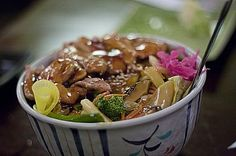 Delightful And Healthy Donburi Ideas Healthy Recipes Have you ever eat donburi? Donburi is well-known as typical Japanese rice bowls. Don refers to the bowl that the dish is served in, so for a typical donburi Japanese Rice Bowl, Japanese Food, Chicken Donburi Recipe, Weeknight Meals, Quick Meals, Husband Lunch, Asian Grocery, Roast Eggplant, Warm Food