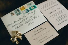 """Sophisticated Winter Invitation Suite {My """"Fancy Script"""" writing style - Calligraphy by Carrie}"""