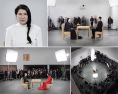 Marina Abramovi - The Artist is Present . Art scene that touched the hearts of thousands.  Credits to www.pbs.org
