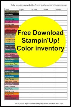 Stampin up inventory.