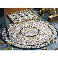 Round and Rectangle Bag Rug Crochet Patterns ePattern  #Crochetroundrugs