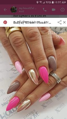 On average, the finger nails grow from 3 to millimeters per month. If it is difficult to change their growth rate, however, it is possible to cheat on their appearance and length through false nails. Gorgeous Nails, Love Nails, Pink Nails, My Nails, Nail Designs Spring, Nail Art Designs, Nails Design, Nagellack Trends, Nail Polish Colors