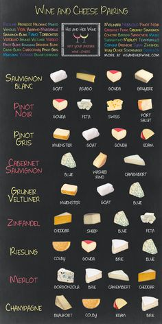 wooleeoo:Wine and cheese pairings