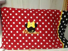 Minnie Mouse Standard Size Pillowcase by GiftSewFine on Etsy