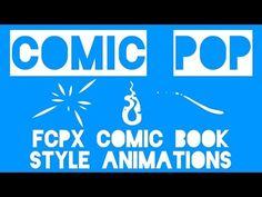 64 Final Cut Pro X Comic Book Style Animations | Stupid Raisins