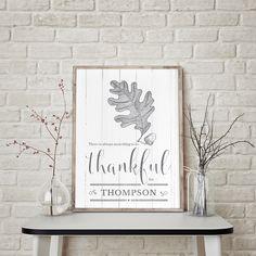Always Thankful personalized print