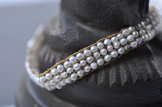 Keshi Pearl Crochet Bracelet by Lena Skadegard
