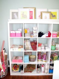 For the Love of Character: Home Studio Reveal...craft room organization with IKEA cubes