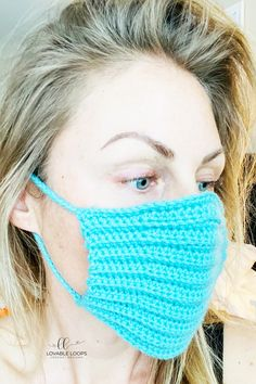 This face mask is not cdc compliant. This mask is not medical grade. It may do very little to protect against virus or bacteria. Save this post to com Crochet Mask, Crochet Faces, Knit Or Crochet, Crochet For Kids, Free Crochet, Crotchet Stitches, Face Masks For Kids, Crochet Baby Booties, Diy Face Mask