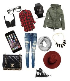 """""""Style #1"""" by mei-mei-1 on Polyvore featuring sass & bide, Vero Moda, Converse, Chanel, Pieces, H&M and 1:Face"""
