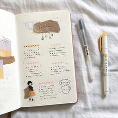 Bullet Journal Writing, Bullet Journal Notebook, Bullet Journal Aesthetic, Bullet Journal Ideas Pages, Bullet Journal Spread, Bullet Journal Inspiration, Journal Pages, Journal Layout, Bullet Journal Minimalist