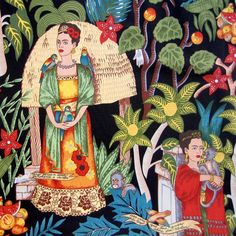 Frida's+Garden+Alexander+Henry+Fabric+Artist+by+BluePacificFabrics,+$9.50