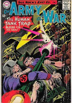 Silver Age Comics, War Comics, Vintage Comics, Army, Comic Books, Military, Comic Covers, Fun, Retro