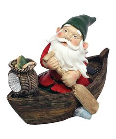 Loving this Gnome on the Go Canoe Solar Light on #zulily! #zulilyfinds