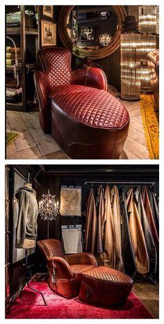 Timothy Oulton … Victorian Furniture, Deco Furniture, Leather Furniture, Furniture Decor, Furniture Design, Style Boudoir, Interior Architecture, Interior Design, Man Room
