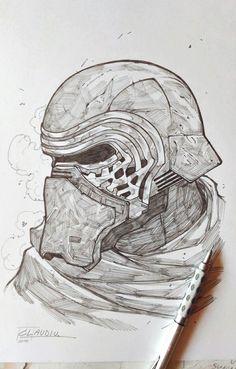 More Star Wars pencil sketching! Star Wars Drawings, Dark Drawings, Realistic Drawings, Cartoon Drawings, Cool Drawings, Star Wars Film, Star Wars Fan Art, Cool Sketches, Drawing Sketches