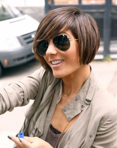 ideas for growing out short hair | Grow out hair and color. Love it!! | Hair Ideas
