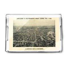 Providence, Rhode Island (Blue) - (1894) - Panoramic Map (Acrylic Serving Tray)