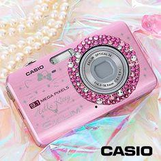 Casio pink digital camera with swarovski crystals  hello-kitty-casio-exilim-zoom-ex-z85-pink-digital-camera-with-swarovski-crystals-2
