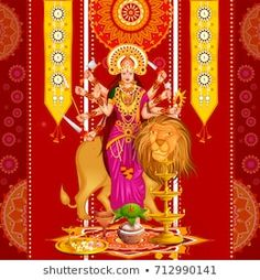 vector illustration of Happy Durga Puja festival background for India holiday Dussehra Happy Durga Puja, India Holidays, Festival Background, New Pictures, Royalty Free Photos, God Prayer, Illustration, Vectors, Pattern
