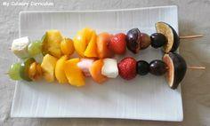 My Culinary Curriculum: Brochettes de fruits arc en ciel juste poêlées au ...