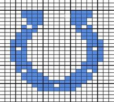 Creative Ramblings: Indianapolis Colts Hat with Charted Horsehoe