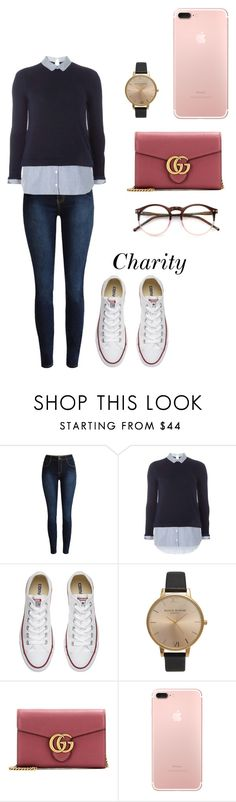 """Swaeter weater."" by cccharity ❤ liked on Polyvore featuring Dorothy Perkins, Converse, Olivia Burton, Gucci and Wildfox"