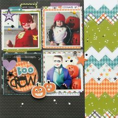 The Boo Crew - Scrapbook.com - Fun Halloween photos work perfectly with Bella Blvd's Trick or Treat collection.