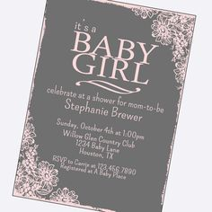 Hey, I found this really awesome Etsy listing at https://www.etsy.com/listing/159577460/simple-baby-girl-shower-invitations-pick