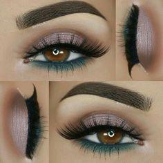 eyeliner – Great Make Up Ideas Gorgeous Makeup, Pretty Makeup, Love Makeup, Makeup Inspo, Makeup Inspiration, Skin Makeup, Eyeshadow Makeup, Eyeshadows, Eyeshadow Guide