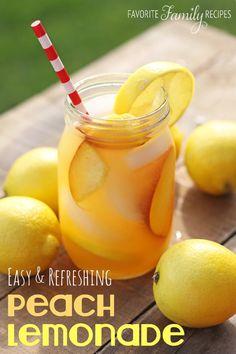 Easy Peach Lemonade - a perfect spring drink!