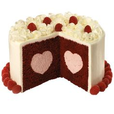 Red Raspberry Velvet Cake - Our Heart Tasty-Fill pan bakes a cake you fill with a tunnel of  love! The indentations are baked right into your cake layers so  each wedge-shaped slice shows the heart-shaped design.