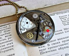 Steampunk Necklace Pendant Watch Parts Resin  Watch Back Necklace CHOOSE Pendant