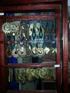 CHILE - Earrings at La Casa De Los Colores, Valparaiso