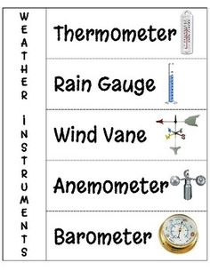 weather instruments printable worksheets learn weather pinterest instruments worksheets. Black Bedroom Furniture Sets. Home Design Ideas