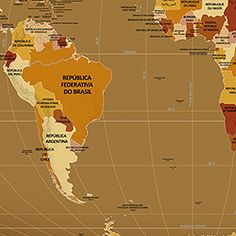 Endonym Map: World Map of Country Names in Their Local Languages