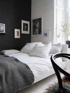 Trouvailles Pinterest: Mur noir