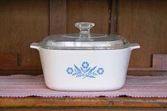 3 Quart ~ Blue Cornflower ~ Corning Ware ~ A-3-B ~ Saucepan/Casserole with Pyrex Lid ~ Small Roaster/Dutch Oven by JingleBeanFarm on Etsy