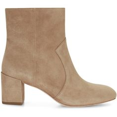 Rebecca Minkoff Lillian Boot ($225) ❤ liked on Polyvore featuring shoes, boots, shiny boots, wide ankle boots, suede ankle bootie, wide shoes and short suede boots