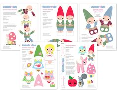 Printable gnome games. This will be perfect for family movie night when the Gnomes movie comes out on instant download - these little darlins will make cute decorations for the evening.