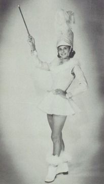 Head Majorette Betsy Green in the 1963 yearbook of Chartiers-Houston Junior-Senior High School in Houston, Texas.