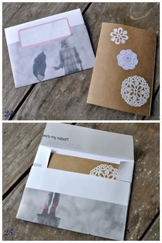 DIY greeting cards and envelopes! I made a larger version of this envelope and I LOVE it! #diy